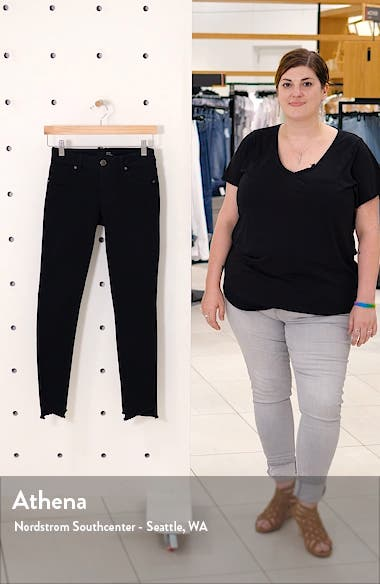 Asymmetrical Hem Skinny Jeans, sales video thumbnail