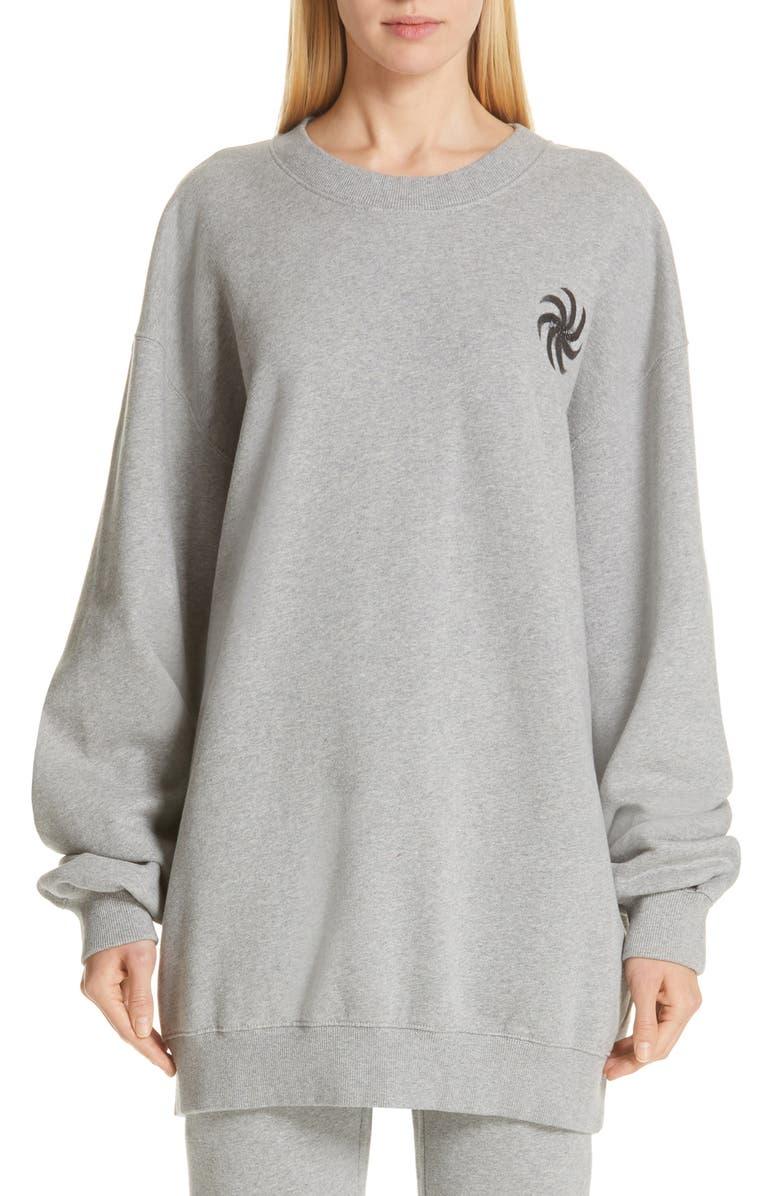 VETEMENTS Elbow Cutout Crewneck Sweatshirt, Main, color, 020