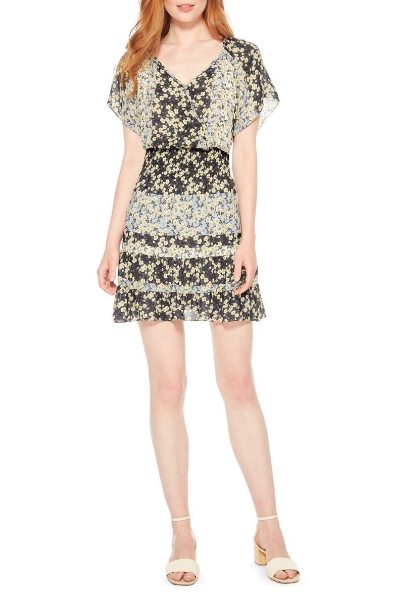 PARKER Augustine Silk Blend Minidress, Main, color, BLOSSOM STRIPE