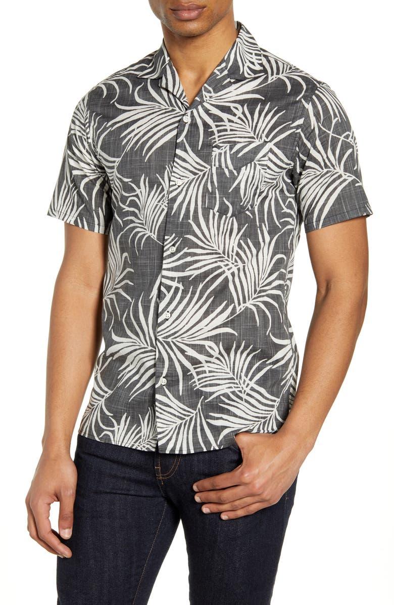 OFFICINE GÉNÉRALE Dario Short Sleeve Button-Up Shirt, Main, color, 006