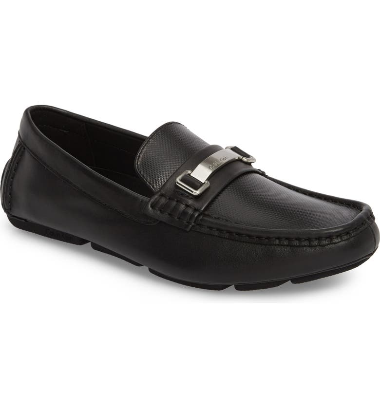 CALVIN KLEIN Maddix Textured Driving Moccasin, Main, color, 001