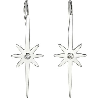 Sheryl Lowe Northstar Diamond Drop Earrings