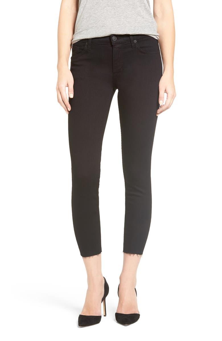 847c53f80e7 Hudson Jeans 'Fallon' High Rise Raw Hem Crop Skinny Jeans (Altair ...