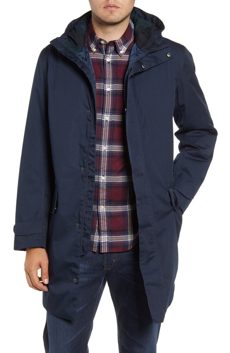 BARBOUR Pershore Waterproof Hooded Jacket, Main, color, NAVY