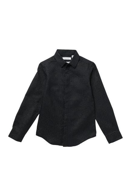 Image of Calvin Klein Stretch Metallic Dot Shirt