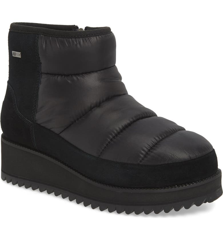 UGG<SUP>®</SUP> Ridge Mini Waterproof Insulated Winter Boot, Main, color, BLACK FABRIC