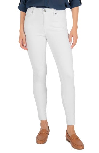 Kut From The Kloth CONNIE HIGH WAIST RAW HEM ANKLE SKINNY JEANS
