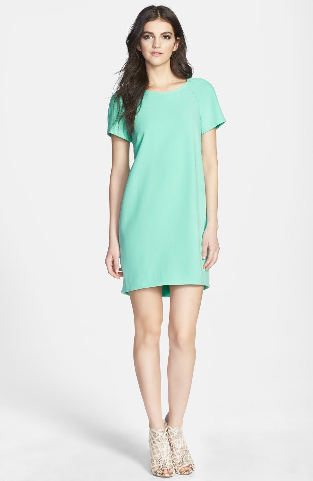 ,                             Crepe Shift Dress,                             Main thumbnail 7, color,                             360