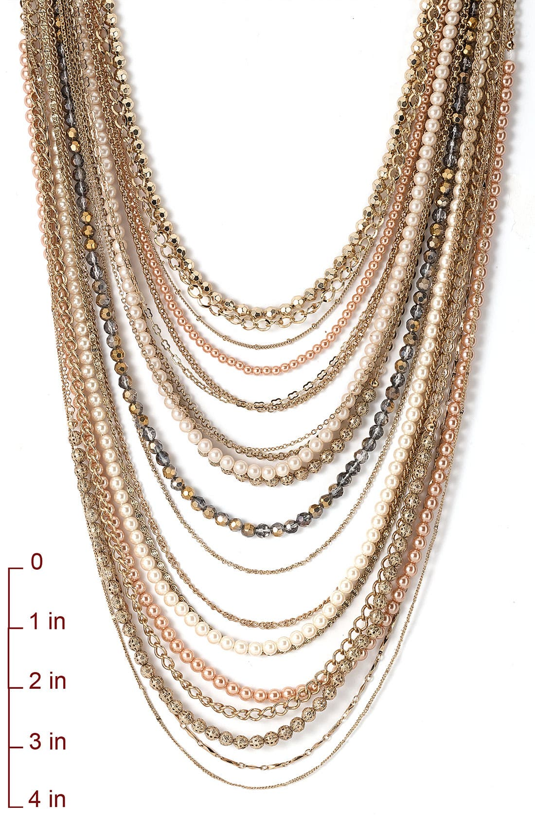 ,                             Beaded Long Multistrand Necklace,                             Alternate thumbnail 21, color,                             710