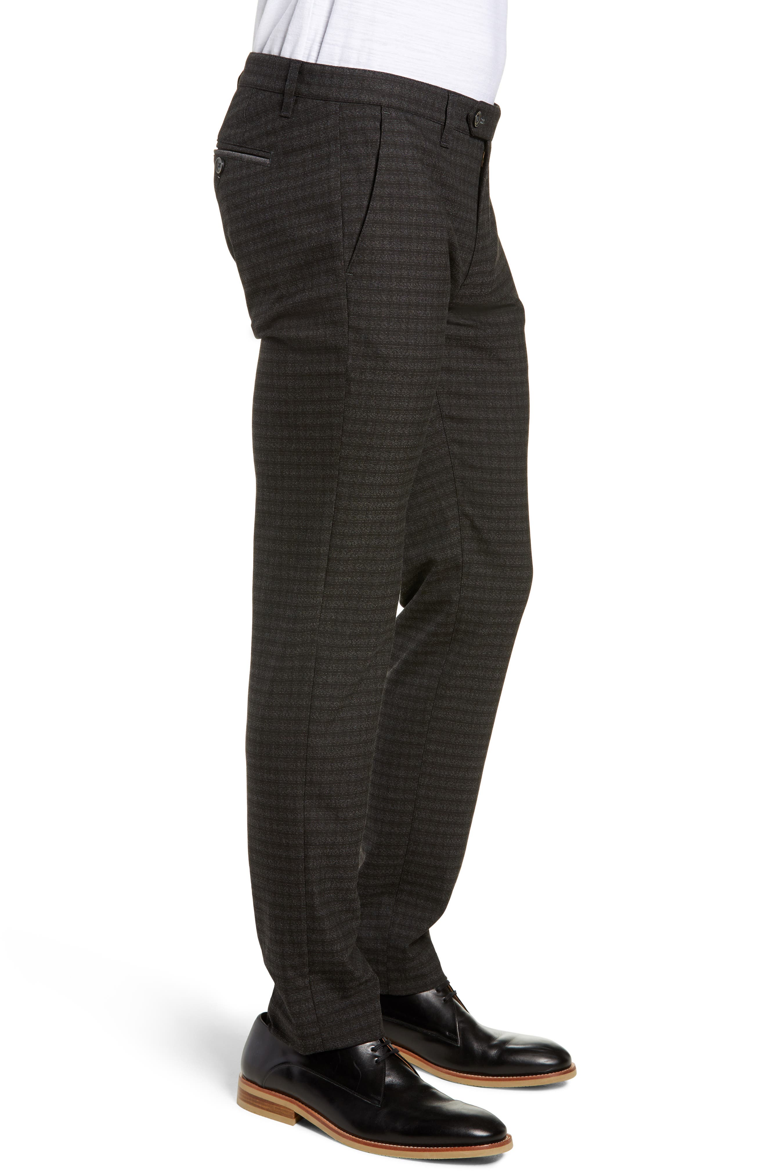 ,                             Portula Slim Fit Check Trousers,                             Alternate thumbnail 4, color,                             030
