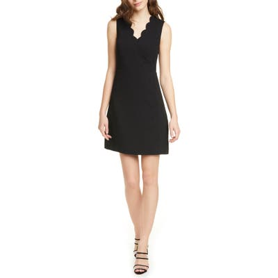 Ted Baker London Furnaed Scallop Cocktail Dress, Black