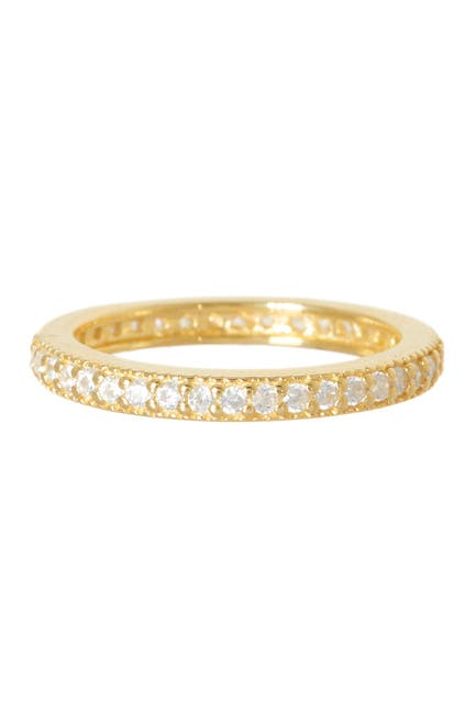 Image of Sterling Forever 14K Gold Vermeil CZ Band Ring