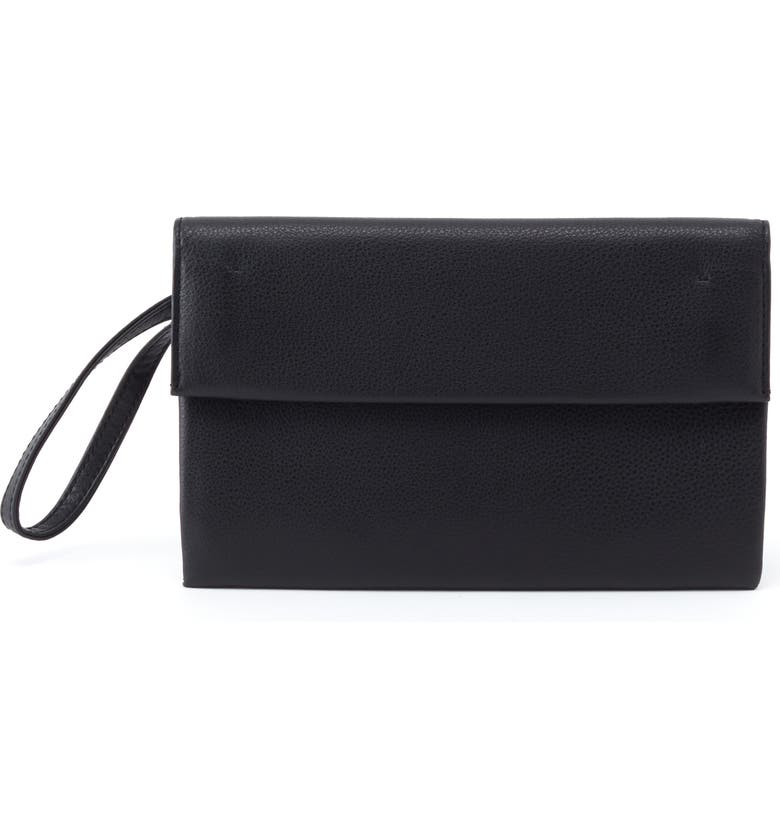 HOBO Fuse Leather Clutch, Main, color, 001