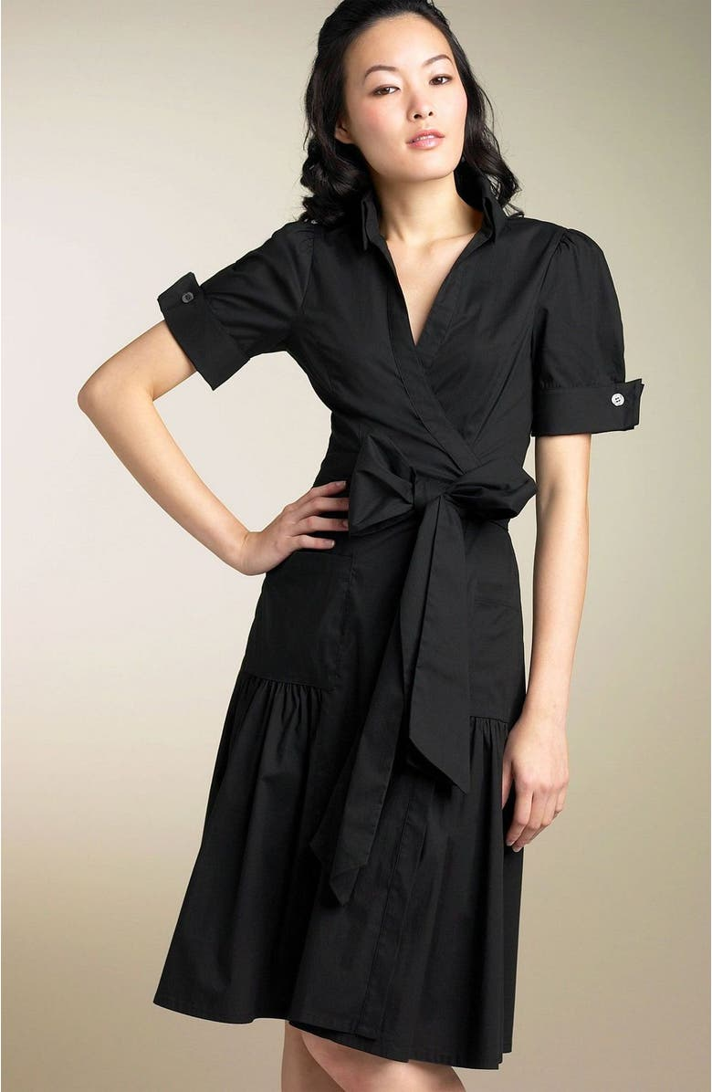 DIANE VON FURSTENBERG 'Bellette' Wrap Dress, Main, color, BLK