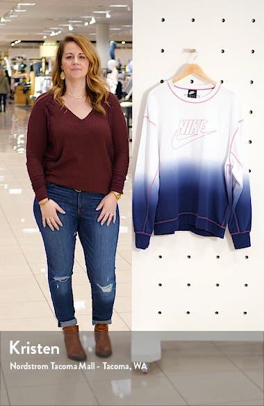 Sportswear Dip Dye Crewneck Sweatshirt, sales video thumbnail