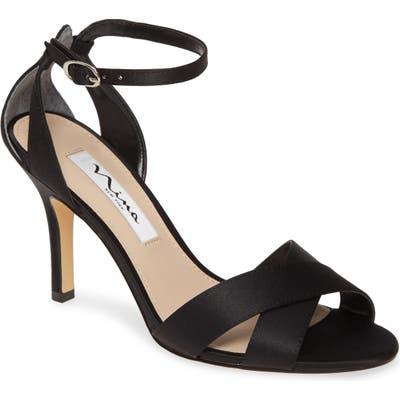 Nina Ankle Strap Sandal- Black