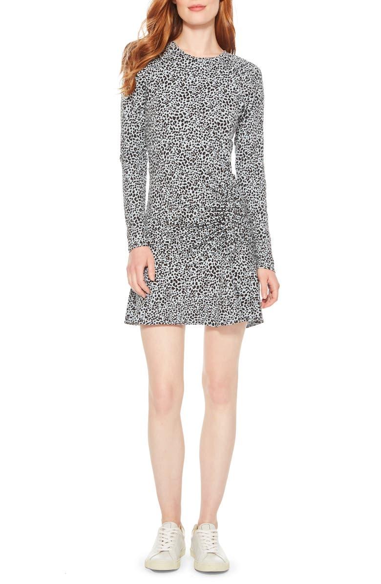 PARKER Rhea Long Sleeve Minidress, Main, color, ARCTIC SPOT
