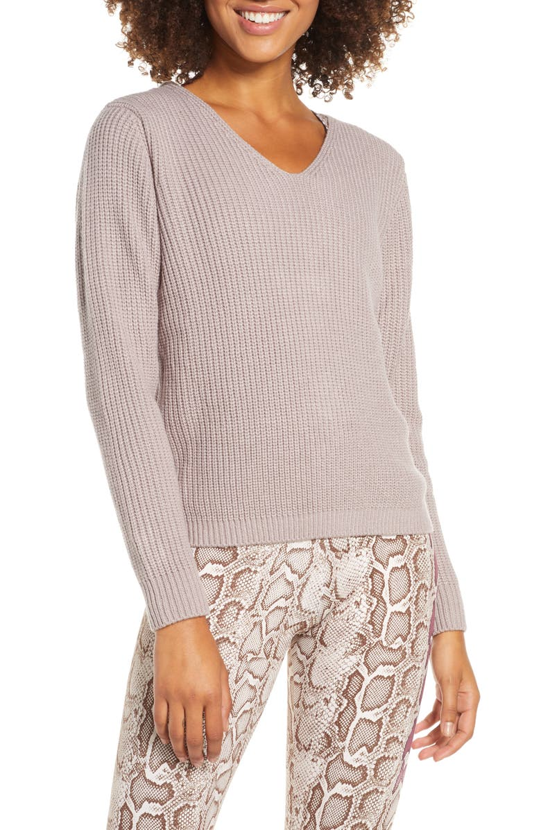 ONZIE Ballet Sweater, Main, color, WOODROSE