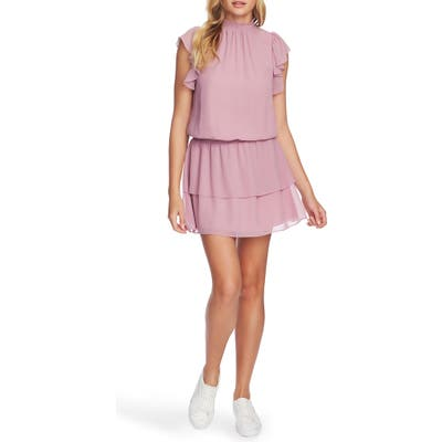 1.state Flutter Sleeve Dress, Pink