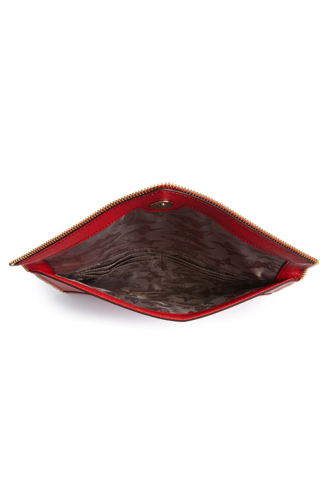 ,                             Leo Envelope Clutch,                             Alternate thumbnail 245, color,                             600