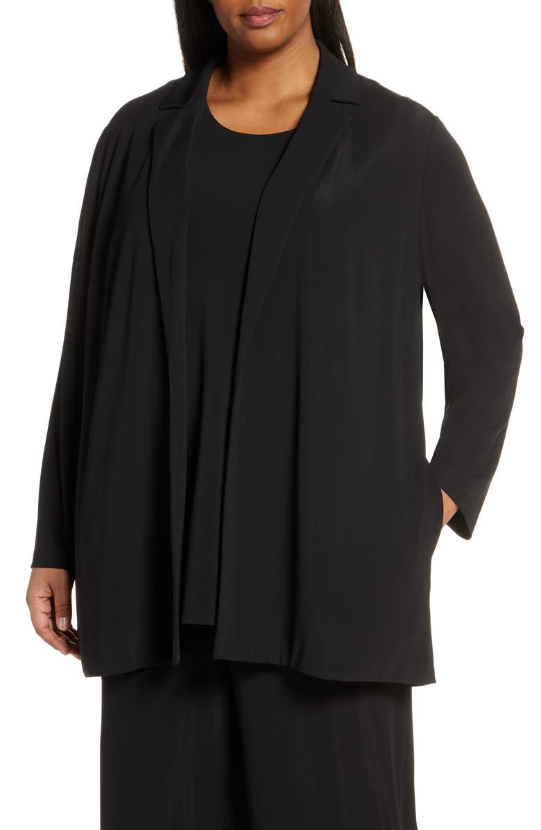 LAFAYETTE 148 NEW YORK Rainey Open Front Jacket, Main, color, BLACK