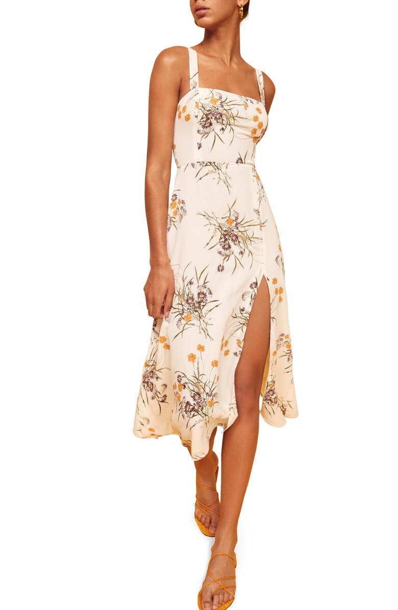 REFORMATION Nectarine Midi Sundress, Main, color, PRINCESS