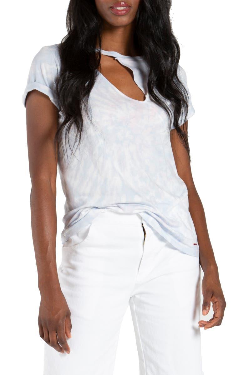 N:PHILANTHROPY Dash Deconstructed T-Shirt, Main, color, MORNING DEW TIE DYE