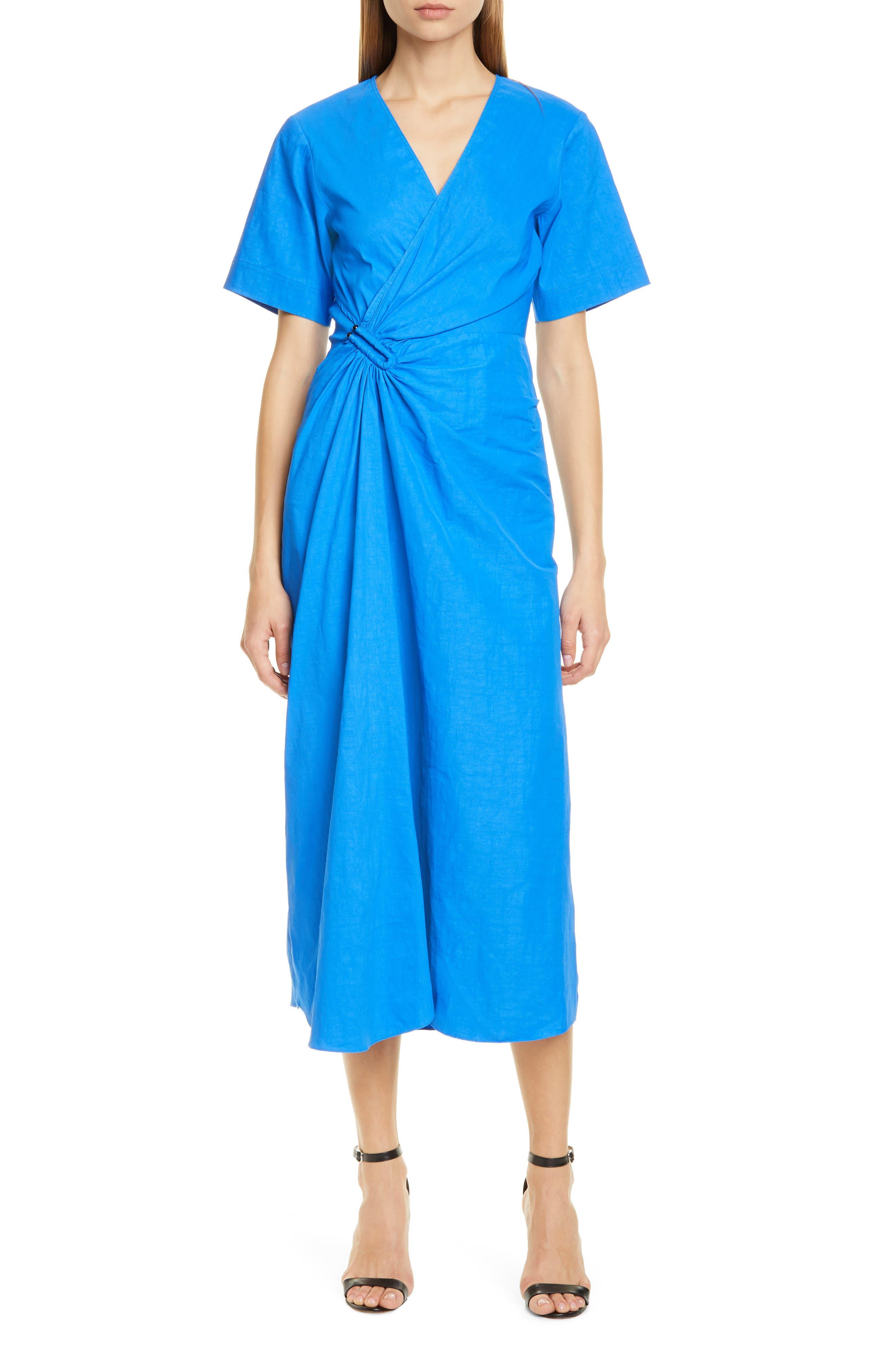 A.l.c. Edie Faux Wrap Midi Dress, Blue