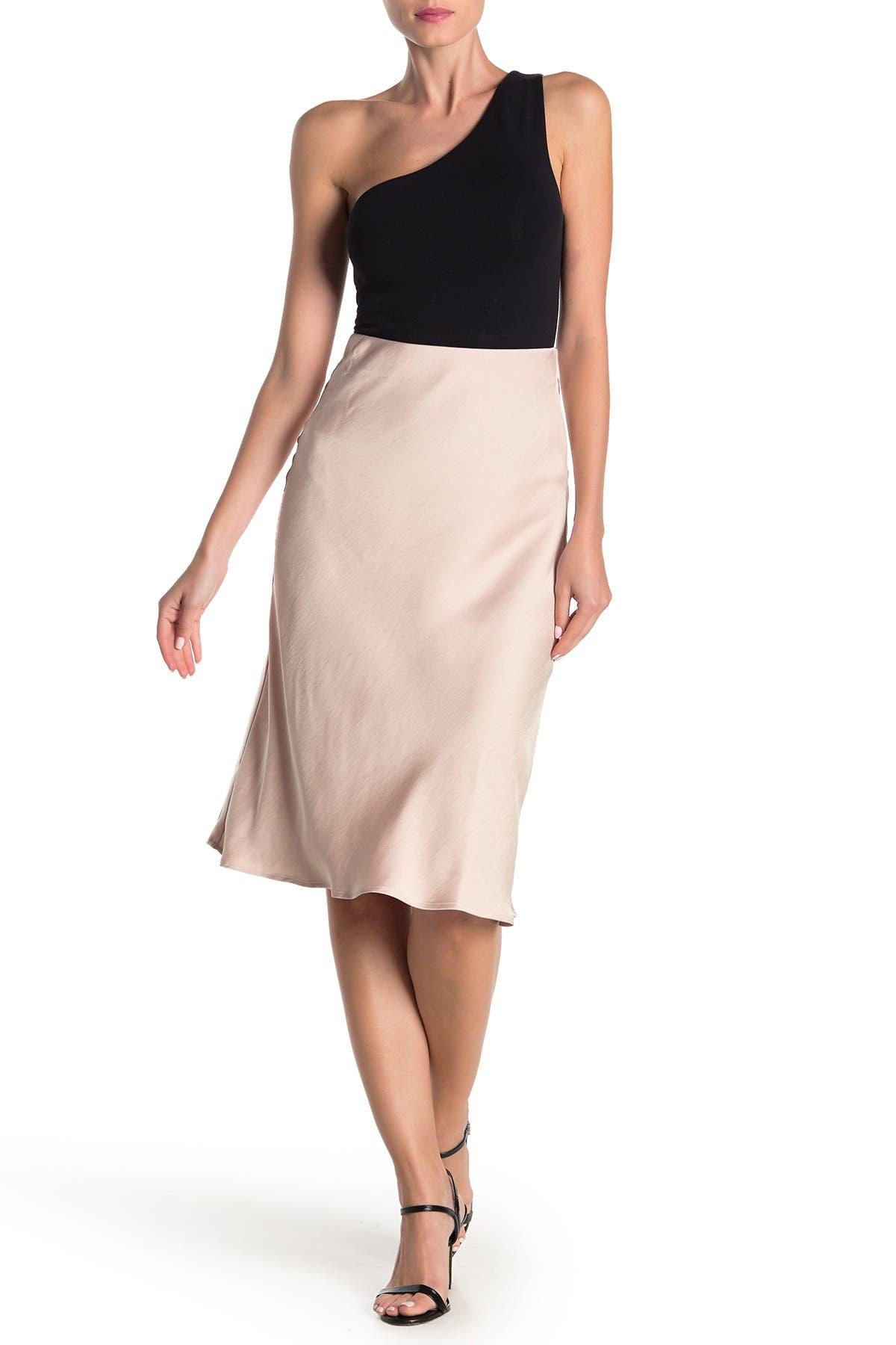 Image of CODEXMODE Satin Bias Cut Midi Skirt