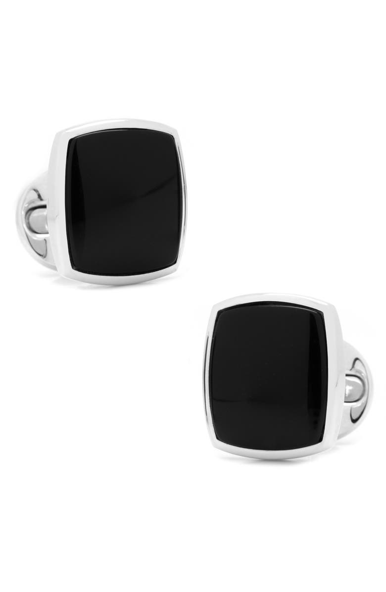 CUFFLINKS, INC. Cushion Cuff Links, Main, color, BLACK