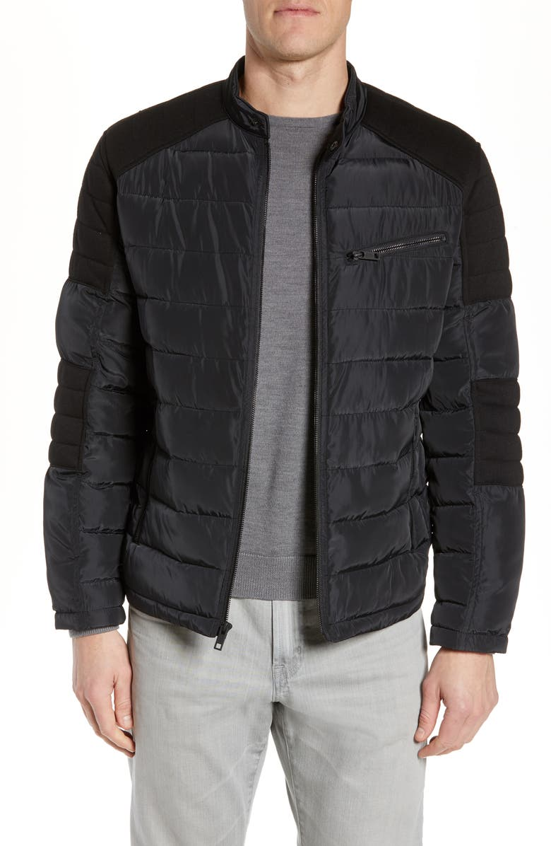 MARC NEW YORK Wilsow Quilted Moto Jacket, Main, color, 001