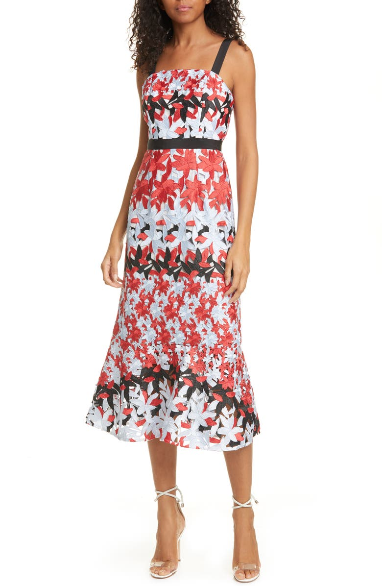 TED BAKER LONDON Telily Fishtail Lace Body-Con Dress, Main, color, 115