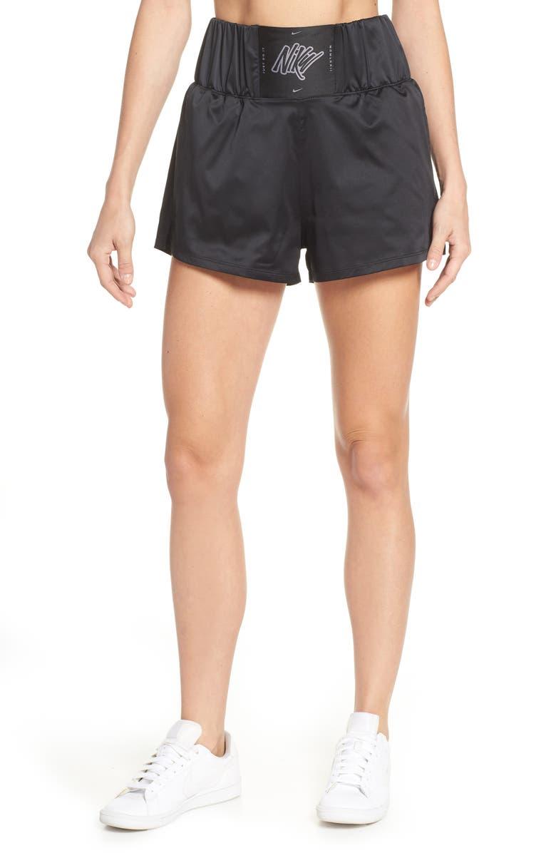 NIKE Knockout Dri-FIT Women's Training Shorts, Main, color, 010