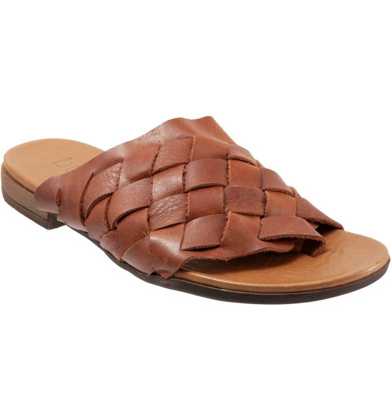 BUENO Tory Woven Slide Sandal, Main, color, TAN LEATHER