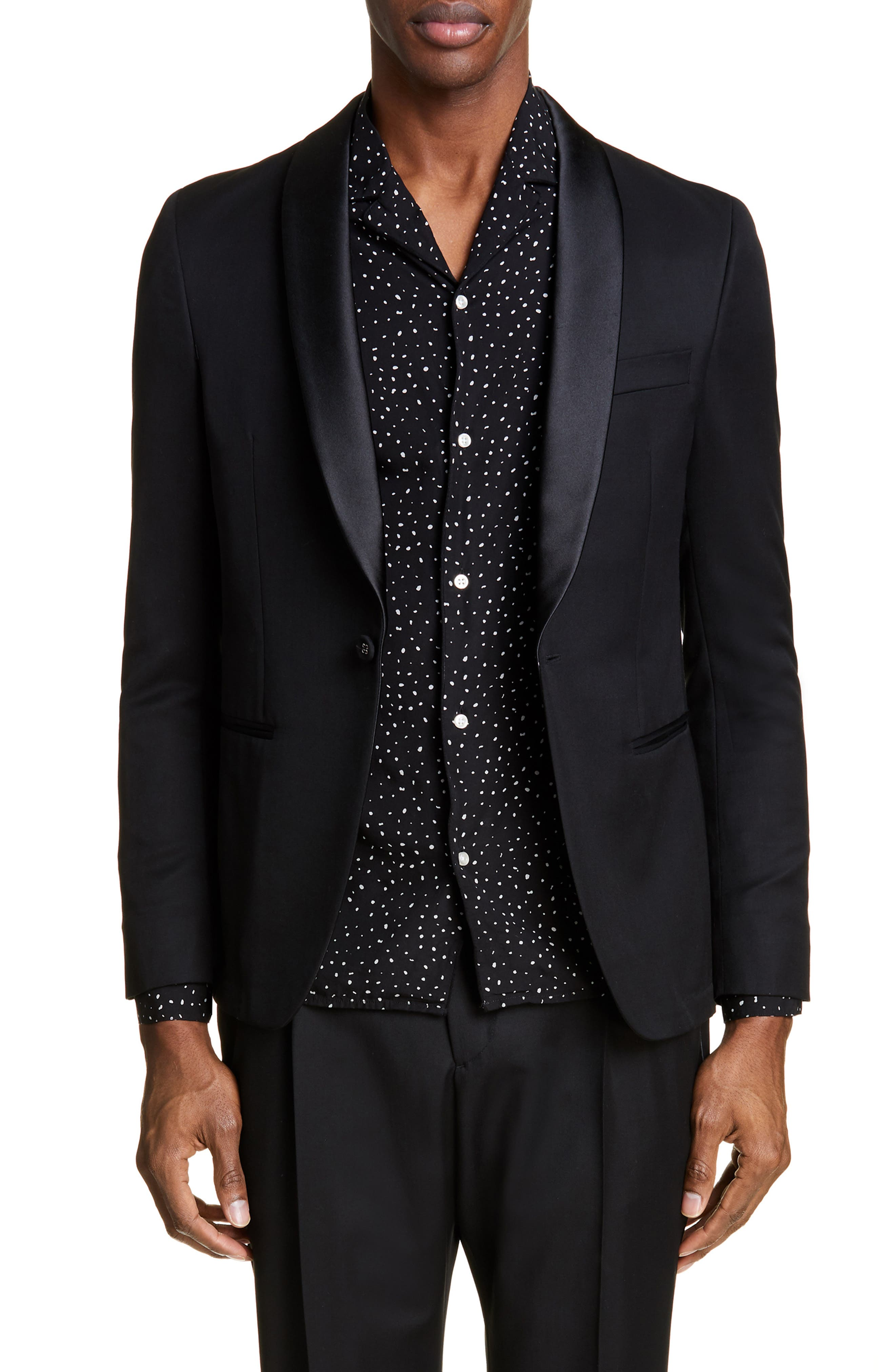 Wool Dinner Jacket, Main, color, BLACK