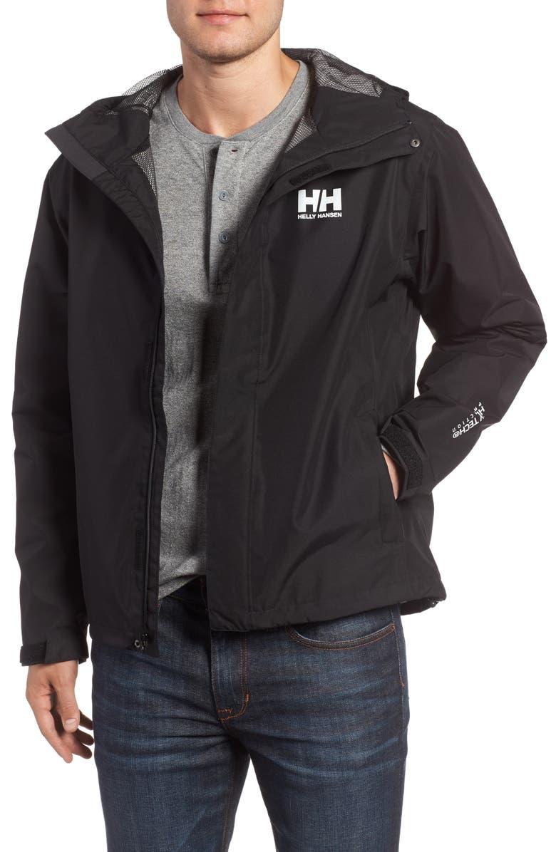 HELLY HANSEN Seven J Waterproof & Windproof Jacket, Main, color, BLACK