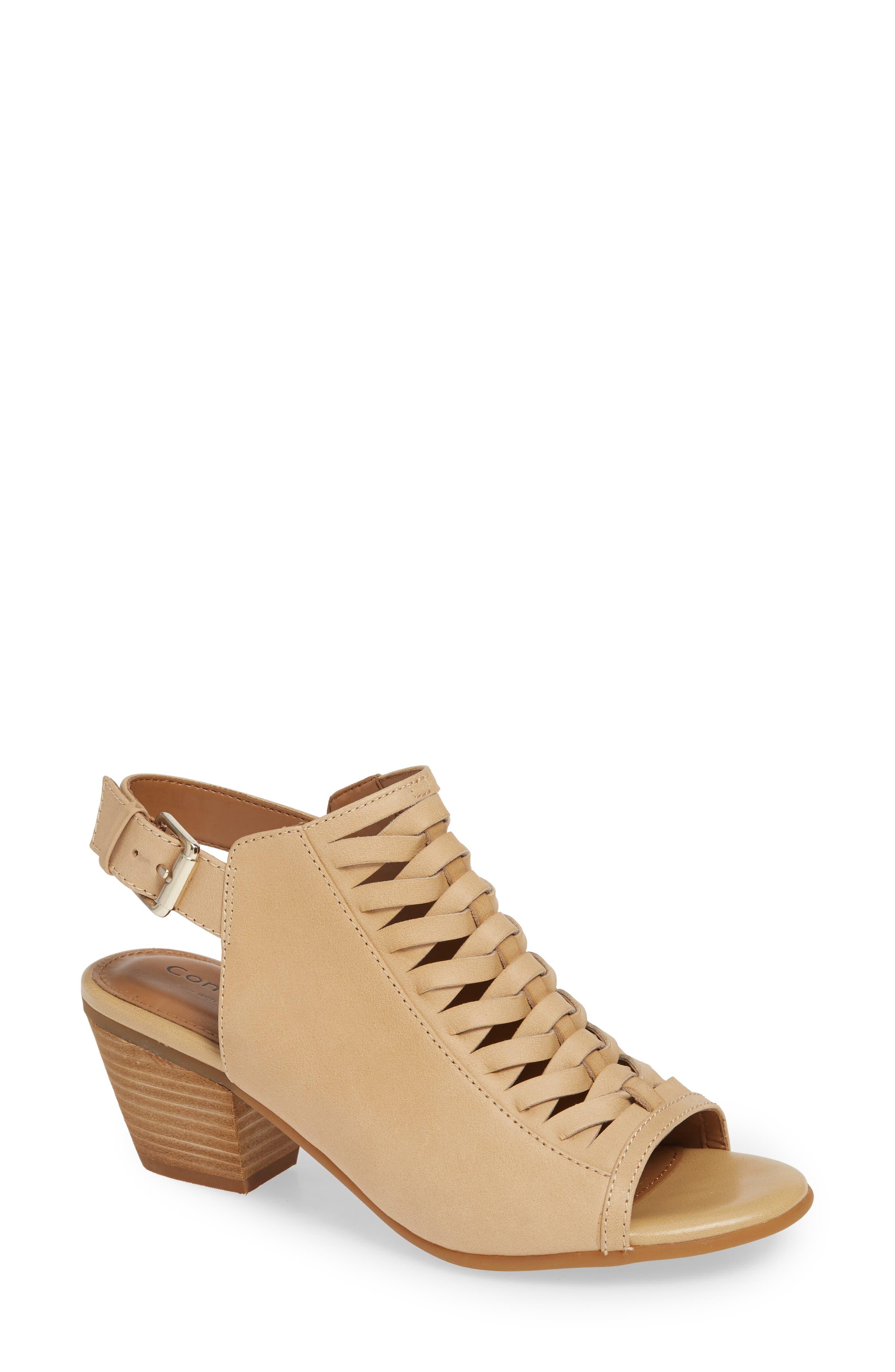 Comfortiva Alanna Leather Sandal, Beige