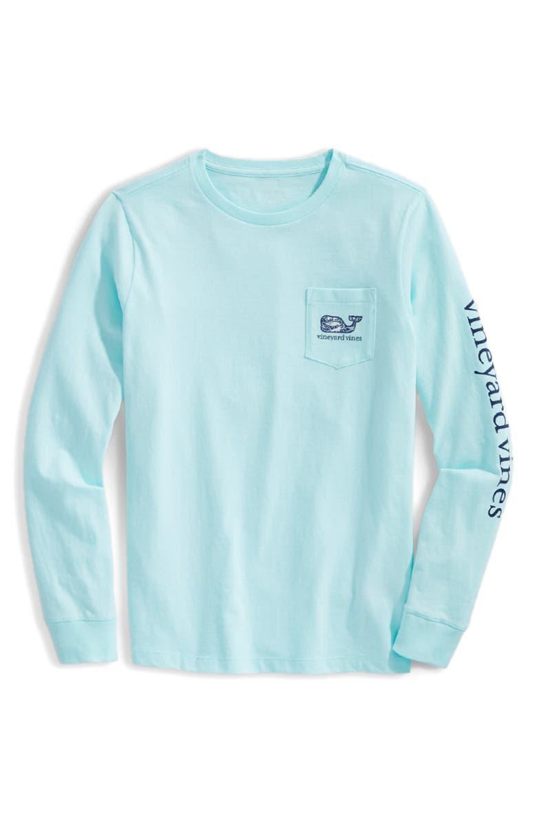 VINEYARD VINES Ocean Whale Fill Long Sleeve T-Shirt, Main, color, CRYSTAL BLUE