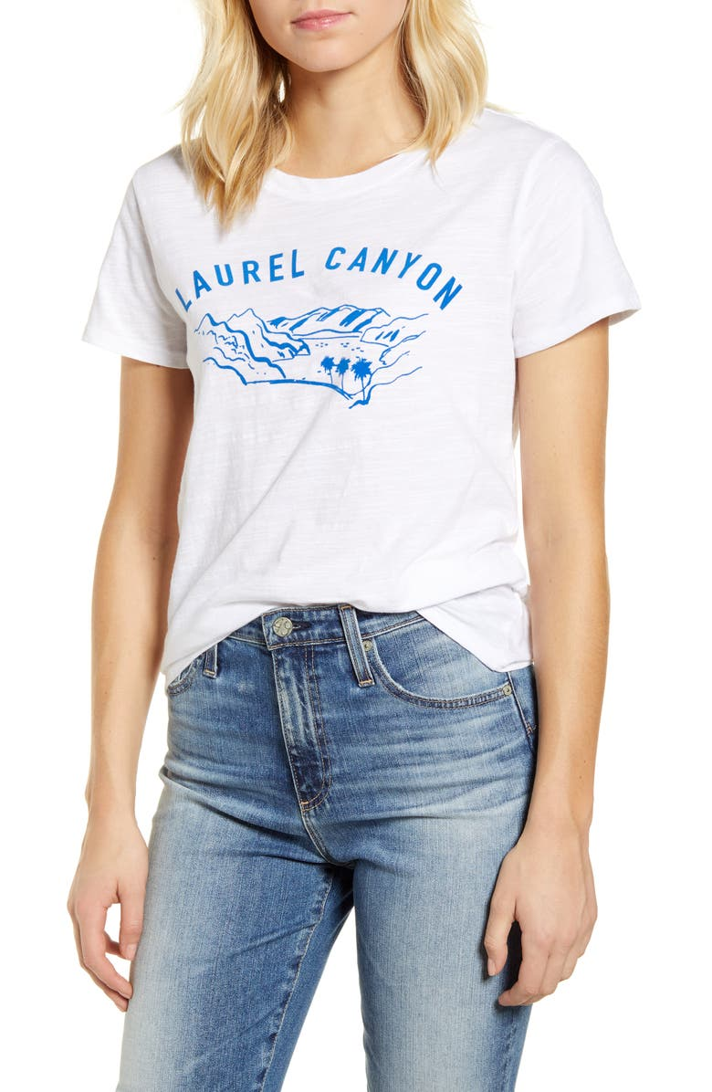 LUCKY BRAND Laurel Canyon Crew Graphic Tee, Main, color, LUCKY WHITE