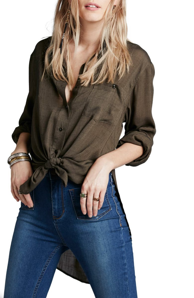 FREE PEOPLE 'That's a Wrap' Shirt, Main, color, 001
