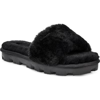 Ugg Cozette Genuine Shearling Slide, Black