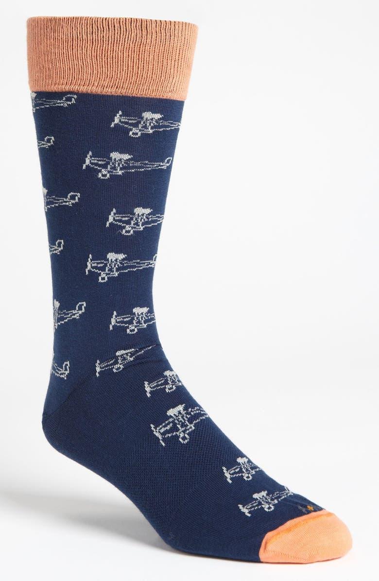 HOOK + ALBERT Biplane Socks, Main, color, 414