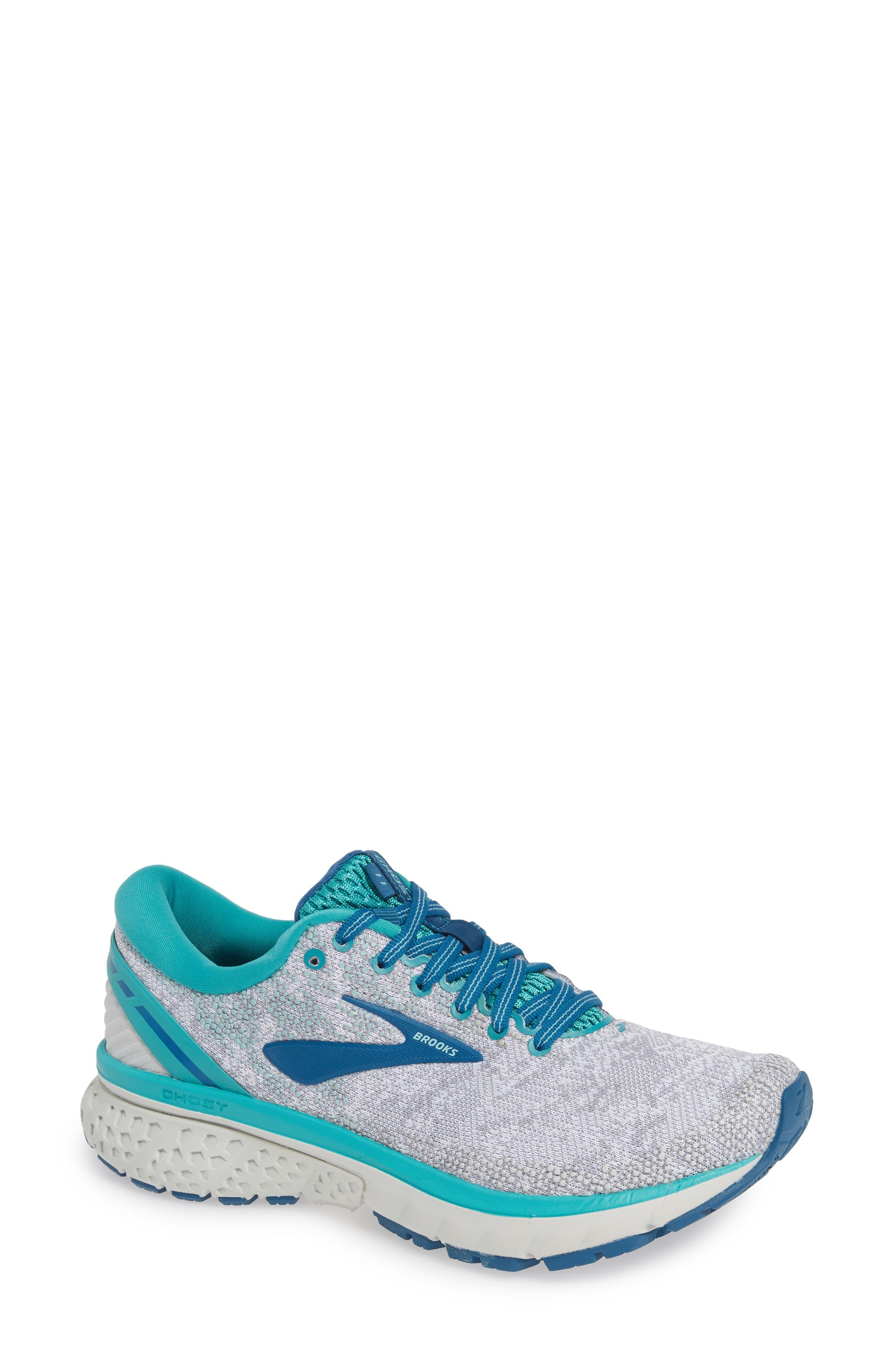 Brooks Ghost 11 Running Shoe, Blue/green