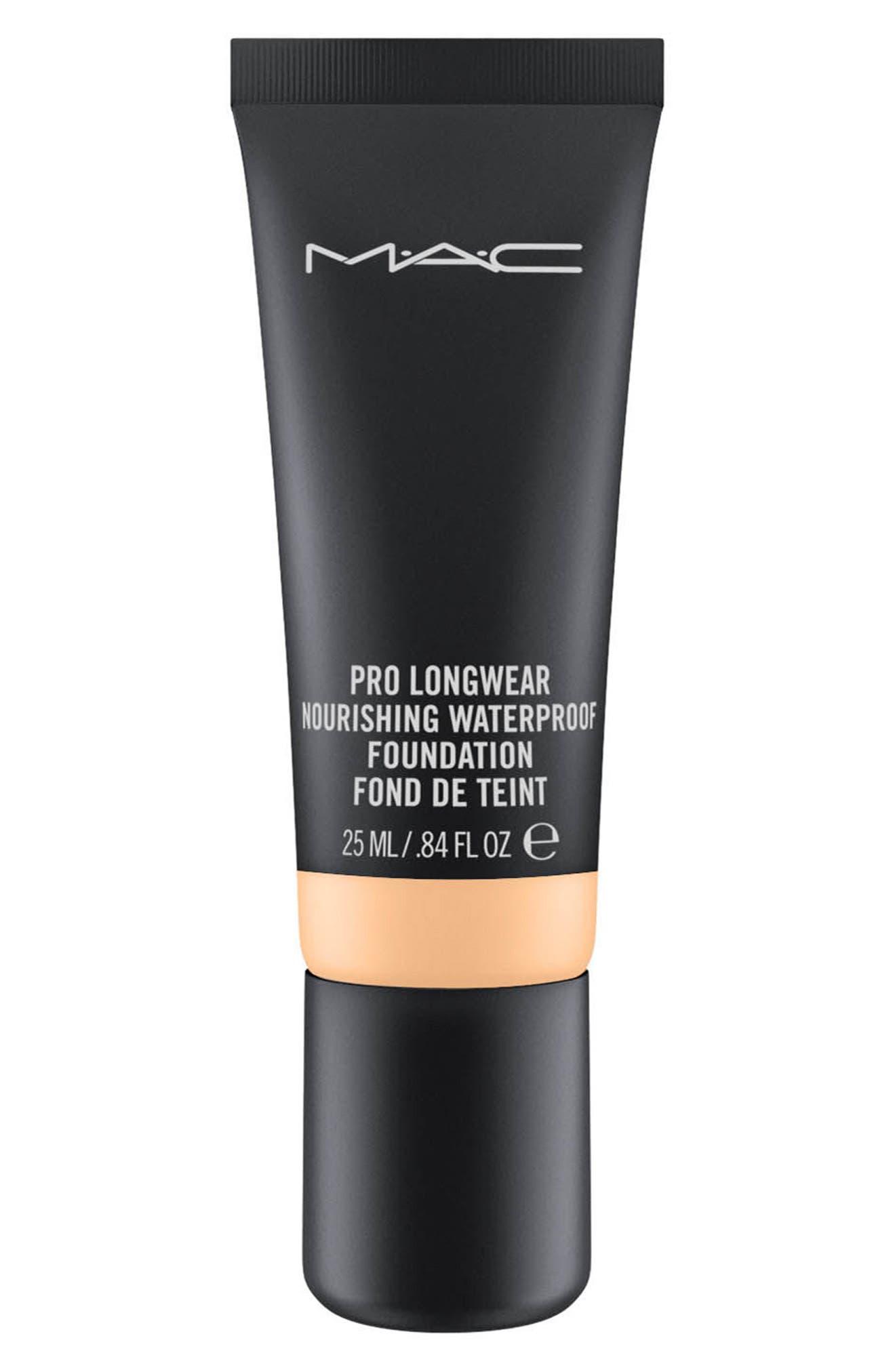 ,                             MAC Pro Longwear Nourishing Waterproof Foundation,                             Main thumbnail 1, color,                             NC44