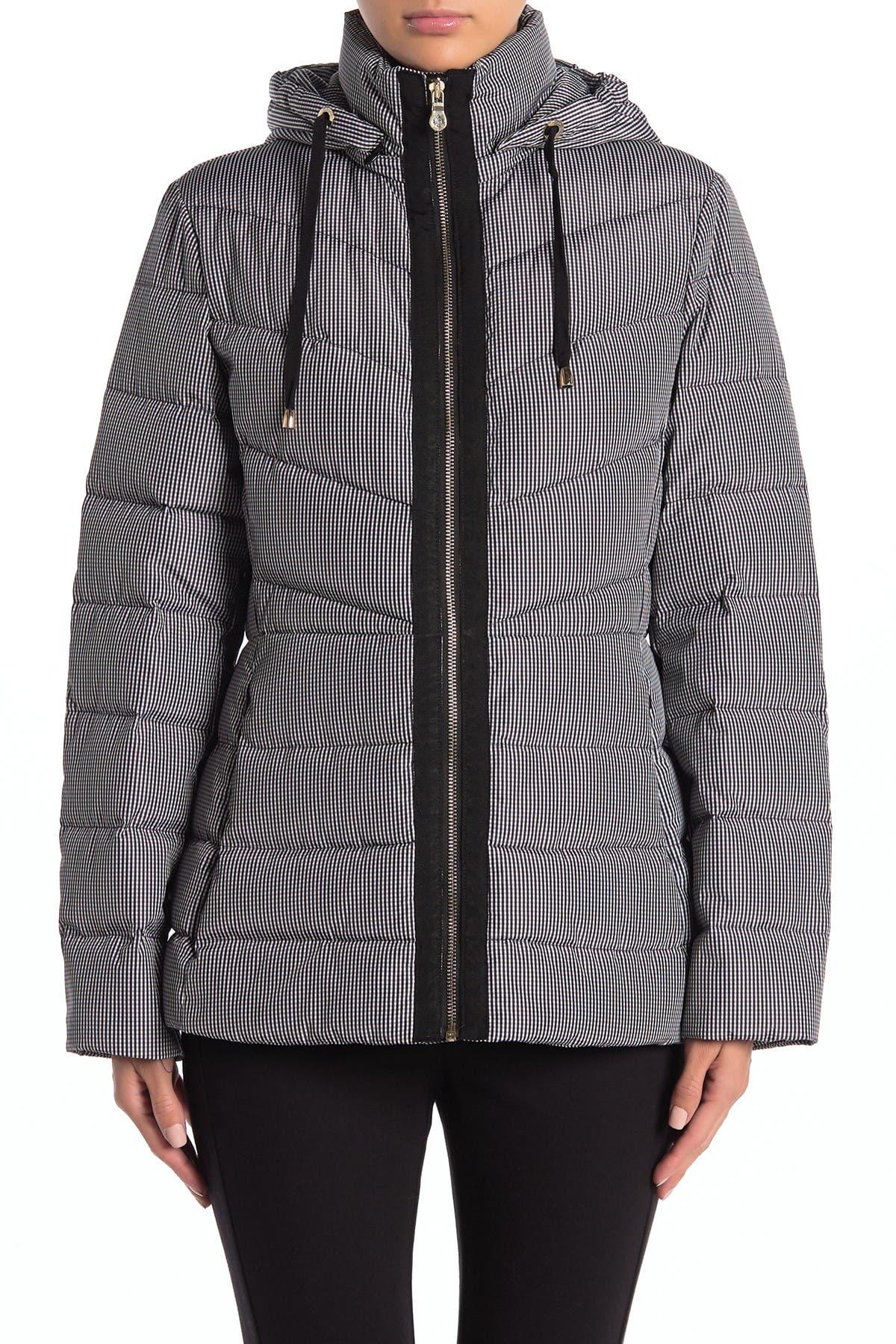 Image of kate spade new york Drawstring Hood Zip Puffer Jacket
