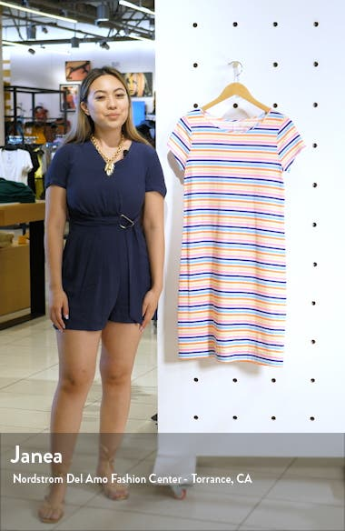 Marlowe Horizontal Stripe T-Shirt Dress, sales video thumbnail