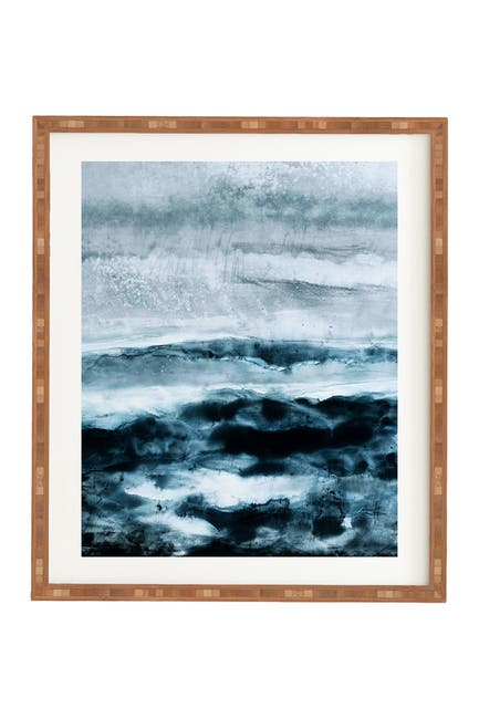 Image of Deny Designs Iris Lehnhardt abstract waterscape Bamboo Framed Art