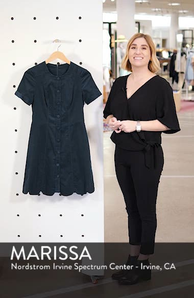 Michelle Micro Corduroy Fit & Flare Dress, sales video thumbnail