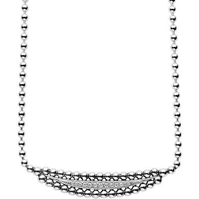 Lagos Caviar Spark Diamond Necklace