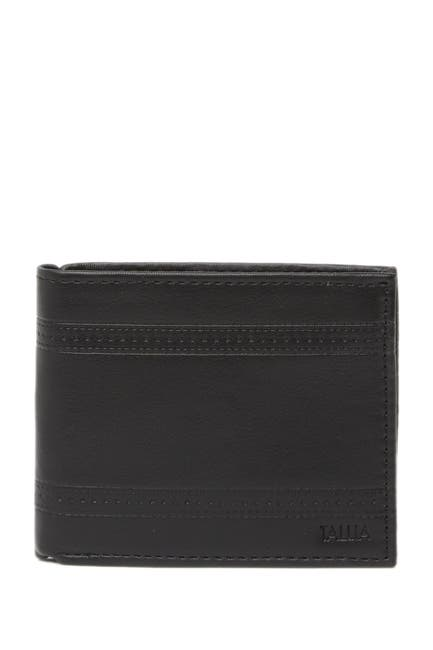 Image of Tallia Bifold Leather Wallet with Embossed Pattern